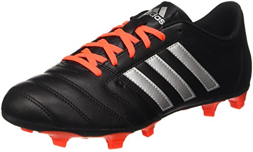 Adidas Gloro 16.2 Fg, Scarpe da Calcio Unisex - Adulto, Nero (Core Black/Silver Metallic/Solar Red), 39 1/3 EU