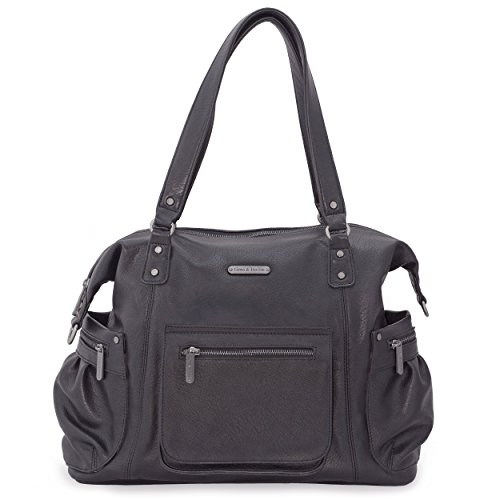 timi & leslie Abby 7-Piece Diaper Bag Set, Black
