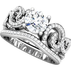 Genuine IceCarats Designer Jewelry Gift 14K White Gold Wedding Band Ring Ring. 1/5 Ct Tw Band 1/5 Ct Tw Band In 14K Whitegold Size 7