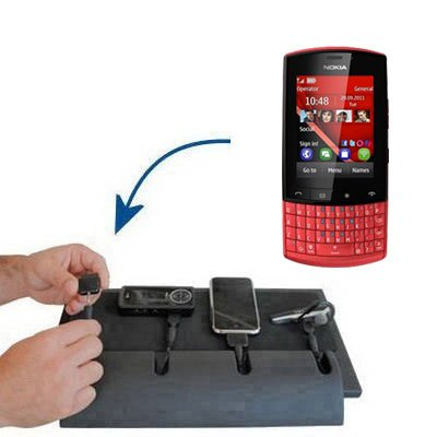 Tabletop Multi-port Charging Station for the Nokia Asha 303 - Clean design charges up to four devices at once. Built using Gomadic TipExchange