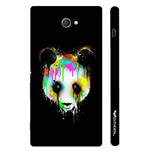 Sony Xperia M2 Dripping Panda designer mobile hard shell case by Enthopia