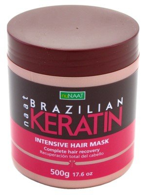 Nunaat Brazilian Keratin Intense Hair Mask 17.6 oz. Jar