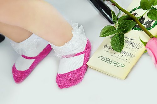 Imagen de Emporio bebé - 0-9 meses - Baby Socks Sparkle Girl - 3 pares de Keepsake Box - Suela Gripper