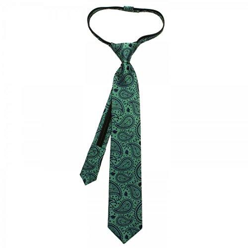 Boys Necktie Star Wars Yoda Paisley Boys' Zipper Silk Tie