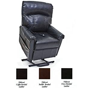 Mega Motion Black Bonded Leather Power Lift