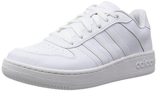 Adidas Team Court Scarpe Low-Top, Uomo, Bianco (Ftwwht/Ftwwht/Msilve), 42