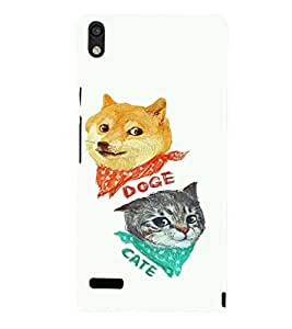 EPICCASE Doge and Cate Mobile Back Case Cover For Huawei Ascend P6 (Designer Case)