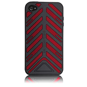Case-Mate Torque Silicone Case for iPhone 4 (Black/Red)