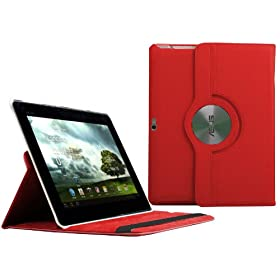 Navitech Red Bycast Leather Case for the Asus Transformer Prime Tf201