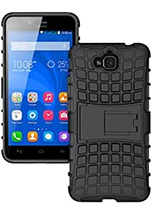 BeeFone Tough Hybrid Armor Back Cover Case with Kickstand for Honor Holly 2 Plus-Black