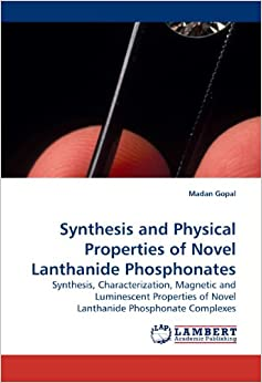 Synthesis and Physical Properties of Novel Lanthanide Phosphonates price comparison at Flipkart, Amazon, Crossword, Uread, Bookadda, Landmark, Homeshop18