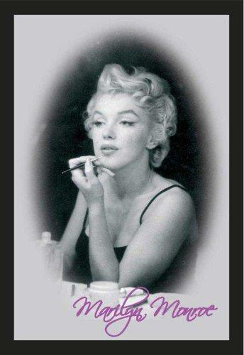 """Empire 544360 """"Marylin Monroe - Make up"""" - Specchio stampato con cornice in plastica effetto legno, 35x45 cm"""