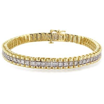 2 Carat Diamond 14K Straight Line Link Bracelet