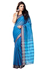Light BLue Color Cotton Designer Saree With Zaree Work And Blouse Gayatri