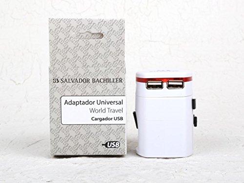Salvador Bachiller - Adaptateur de Voyage Avec Hub Usb - Digital Sb HS-8260 - Blanc