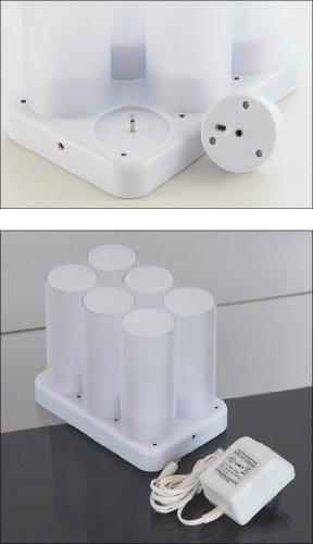 ottostyle.jp 充電式 LEDキャンドルライト 6本入り 2012年モデル 【着脱可能なシルエットシート6種付き / 過充電防止回路内蔵】