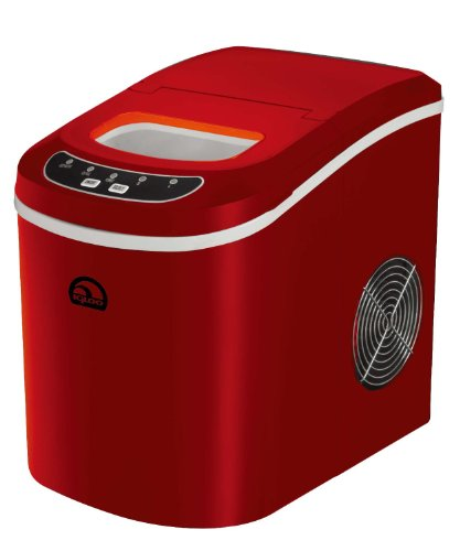 iGloo ICE102-Red Compact Ice Maker, Red (Certified Refurbished) (Refurbished Ice Maker compare prices)