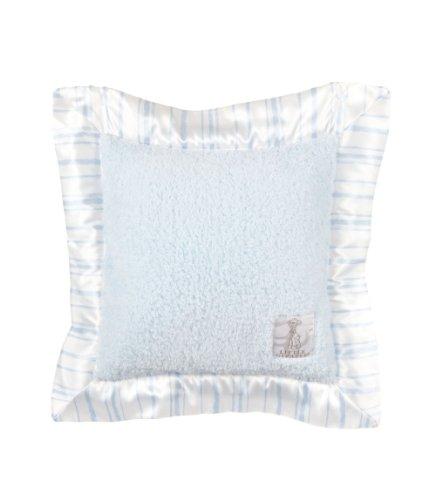 Little Giraffe Chenille Coco Strip Pillow (Blue) front-911250
