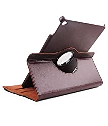 """TGKâ""""¢ 360 Degree Rotating Leather Smart Case Cover Stand for iPad Air 2 / iPad Air 6 (Brown)"""