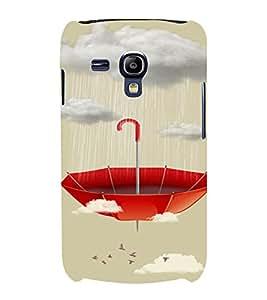 PrintVisa Red Umbrella 3D Hard Polycarbonate Designer Back Case Cover for Samsung Galaxy S3 Mini