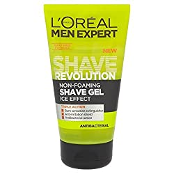 Loreal Men Experts Shave Revolution Non-Foaming Ice Effect Antibacterial Shave Gel 150 ml With Free Ayur Sunscreen 50 ml