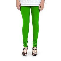 Vami Cotton Churidar Leggings in Flirty Green Color _VM1001(85)
