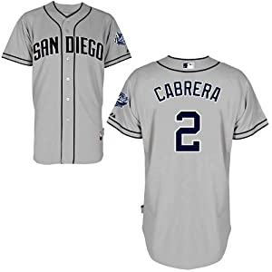 Everth Cabrera San Diego Padres Road Authentic Cool Base Jersey by Majestic by Majestic