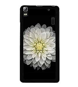 White Flower 2D Hard Polycarbonate Designer Back Case Cover for Lenovo K3 Note :: Lenovo A7000 Turbo