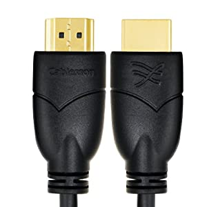 Cablesson Basics 3m (3 Meter) High Speed HDMI Cable with Ethernet - (Latest 2.0/1.4a Version, 21Gbps) Gold HDMI Cable with ETHERNET Compatibility, PS4, SKY HD,FULL HD, 1080P, 2160p, LCD, PLASMA & LED TVs, 4K Ultra HD , 3D TVS, Supports Dolby TrueHDs