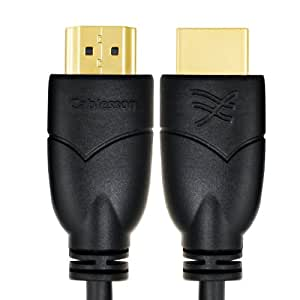 Cablesson Basics 2m (2 Meter) High Speed HDMI Cable with Ethernet - (Latest 2.0/1.4a Version, 21Gbps) Gold HDMI Cable with ETHERNET Compatibility, PS4, SKY HD,FULL HD, 1080P, 2160p, LCD, PLASMA & LED TVs, 4K Ultra HD , 3D TVS, Supports Dolby TrueHDs