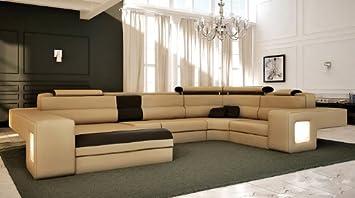 Italian Design Modern Sectional Sofa - Honey