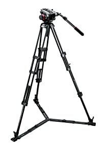 Manfrotto 504HD,546GBK Video Tripod Kit with 504HD Video Head and 546GB Tripod (Black)