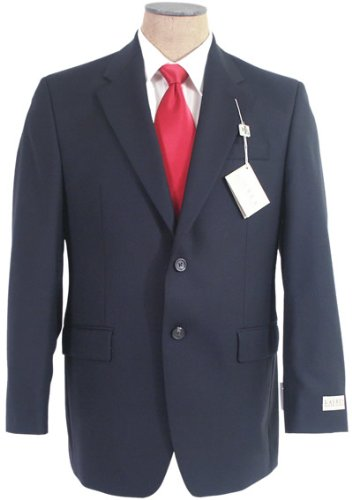 Ralph Lauren Mens Sb 2B Solid Navy Blue Wool Suit - Size 48L