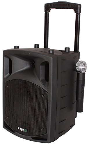 Ibiza sound Ibiza NOMAD8CD mobile PA-Box Akku Trolley Bluetooth USB - CD-MP3