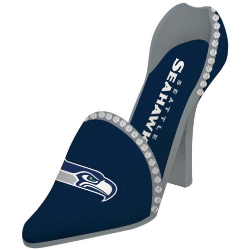 "NFL Seattle Seahawks Decorative Team Shoe Wine Bottle Holder (4"" x 11"" x 8"") at Amazon.com"