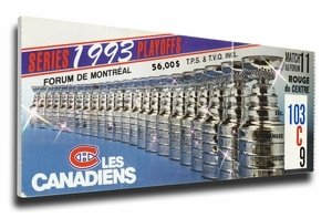 1993 Stanley Cup Mega Ticket - Montreal Canadiens
