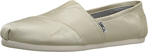 TOMS Women's Wedding Classic Ivory Grosgrain Loafer 9.5 B (M)