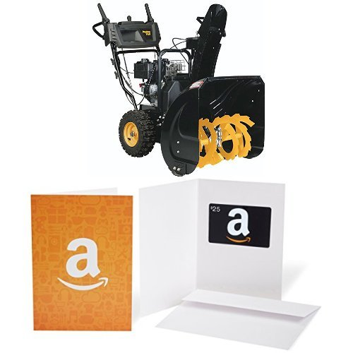 Poulan PRO PR240 - 24-Inch 179cc Two Stage Snowthrower with $25 Gift Card bundle