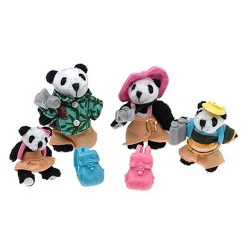 Furryville Family Moment Set The Pandafords on Vacation