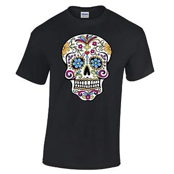 Sugar Skull T Shirt Cool Dope Swag Tumblr Gothic Fashion: Clothing