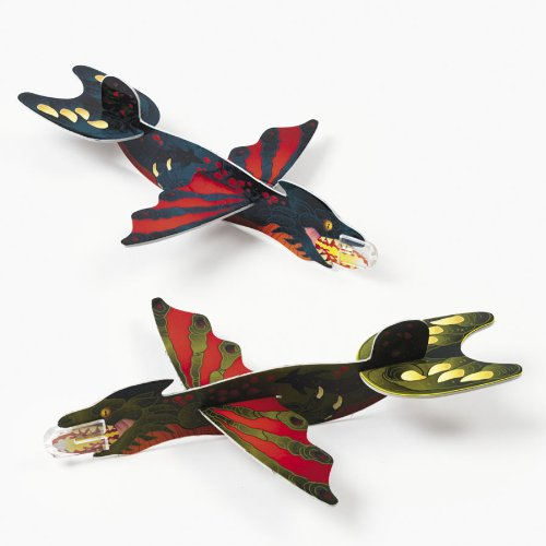 Foam Fire Breathing Dragon-Shaped Gliders (2 dz) - 1