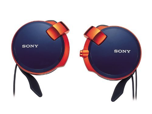 Sony Clip-On Stereo Headphones With Retractable | Mdr-Q38Lw Li Spicy Blue
