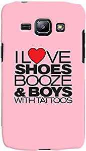 PrintVisa Girly Quotes Case Cover for Samsung Galaxy J1