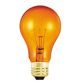 Bulbrite 105525 25W Transparent Orange A19 Bulb