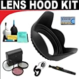 Pro Digital Hard Lens Hood + High Resolution 3-piece Filter Set (UV, Fluorescent, Polarizer) + 6-Piece Deluxe Cleaning Kit + Lenspen + Lens Cap Keeper + SMART SHOP UK Micro Fiber Cloth For The Canon EOS Rebel T2i (EOS 550D) Digital SLR Camera Which Has T
