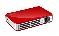 Vivitek Qumi Q5 500 Lumen WXGA HD 720p HDMI 3D-Ready Pocket DLP Projector with 4GB Memory (Red)
