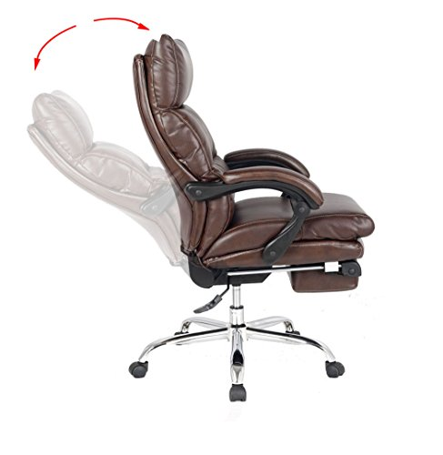 viva office recliner office chair thick padded executive chair napping chair viva1102. Black Bedroom Furniture Sets. Home Design Ideas