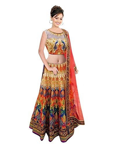 Surat-Tex-Orange-Yellow-Color-Party-Wear-Semi-Stitched-Embroidered-Satin-Lehenga-Choli-With-Heavy-Designer-Satin-Blouse-H943LAWS1102