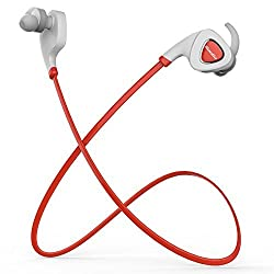 Bluedio Q5 Wireless Bluetooth Headsets V4.1 Stereo Earphone In Ear Earbud Sports Sweatproof Headset Support APP Noisy Reduction (Red)