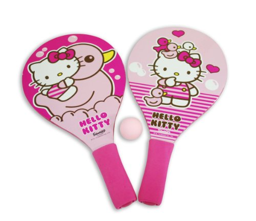 WDK Partner - A1200328 - Jeu de Plein Air et Sport - Raquettes beach ball Hello Kitty + 1 balle